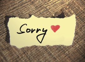 It is never too late to be sorry!