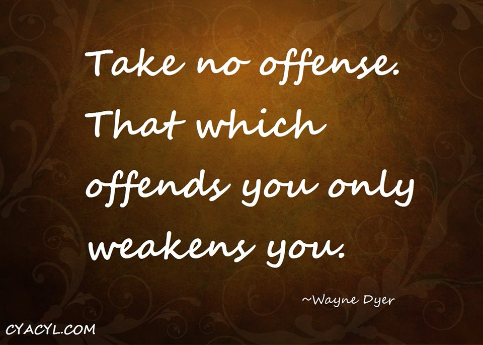 Taking Offence and how you can grow through it
