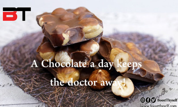 A Chocolate a day keeps doctor away!